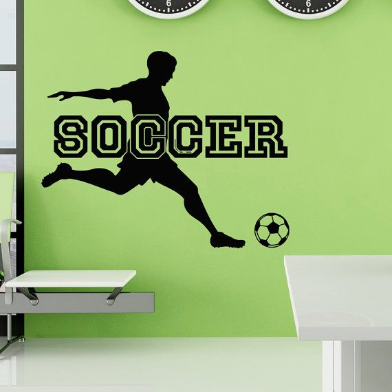 Soccer Wall Decal Sports Man Football Player by FabWallDecals
