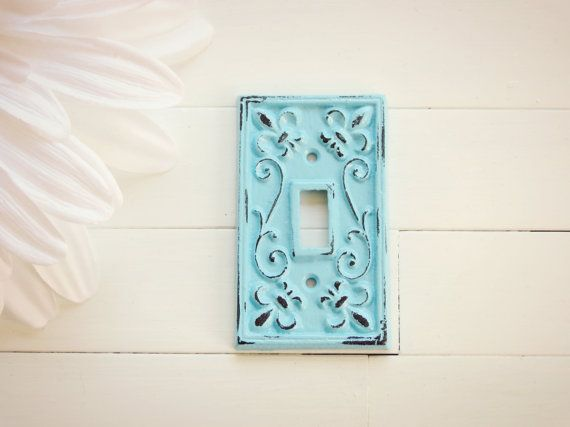 Light Switch Cover / Light Switch Plates / Single Light Switch Cover / Shabby Chic Decor / French Country Decor / Customize Color on Etsy, $10.00