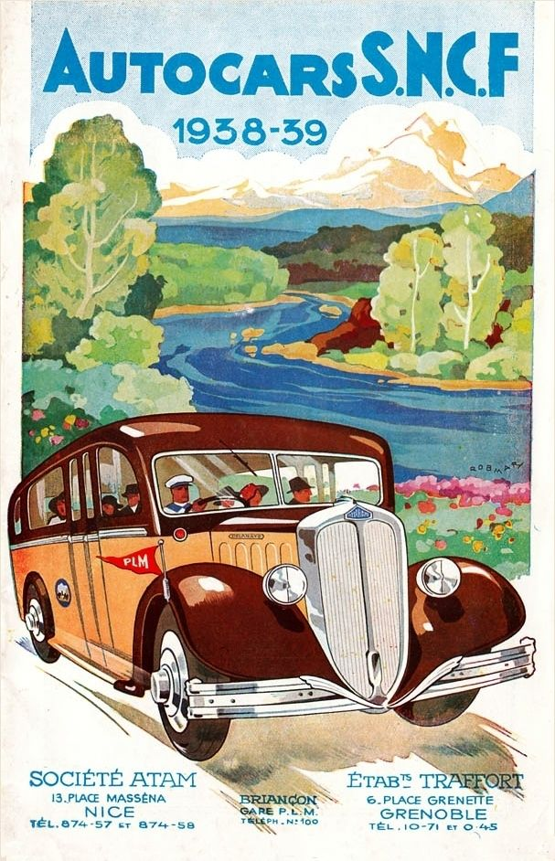 19381939 Delahaye autocar SNCF ad (With images