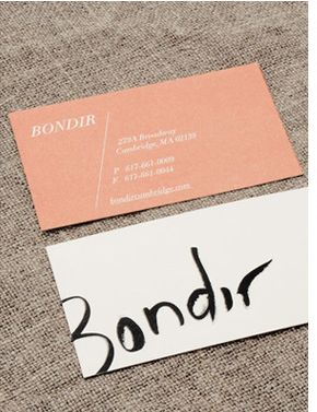 bondir | eva black  This is a gorgeous business card. Can we do something like this except with my logo?