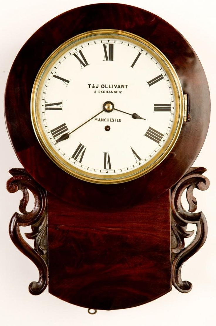 Am americana country wall clocks - T J Ollivant Manchester C 1840 Wall Clocks Northern Clocks