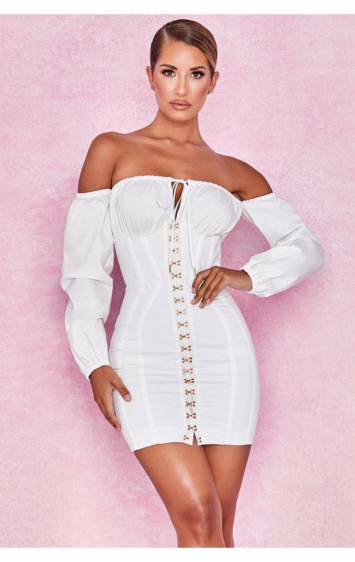 a93f50bc09f3 Arabella White Corset Dress