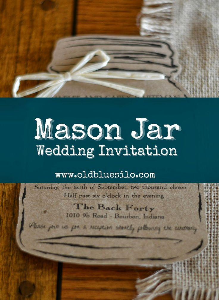 Old Blue Silo - Mason Jar Wedding Invite