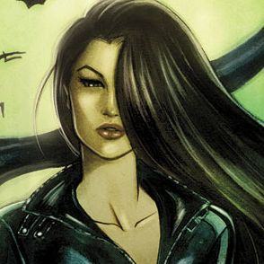 Talia al Ghul:  she's the daughter of Ra's al Ghul. Her father encouraged a relationship between Talia and Batman, desiring for Batman to marry his daughter in hopes of recruiting him as his successor. Talia admires Batman in his drive, determination, and nobility, but was always torn between him and the love for her terrorist father. Unlike Catwoman, Talia is more than willing to play second-fiddle to Bruce's mission. She claims he's the father of her son Damian.