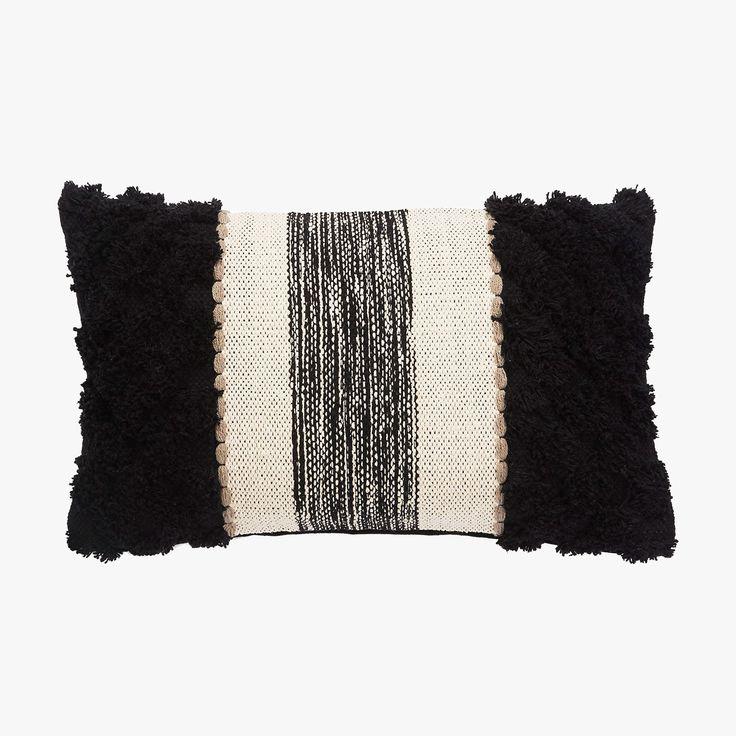 Black Stripe Knit Lumbar Pillow 637 best
