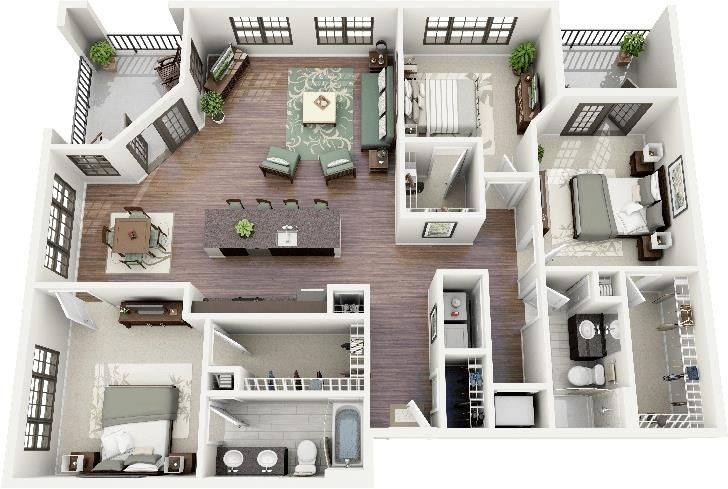 8 best projet 3 images on Pinterest Decks, House blueprints and 3d - plan de maison 3d gratuit