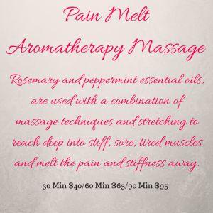 Pain Melt  Aromatherapy Massage