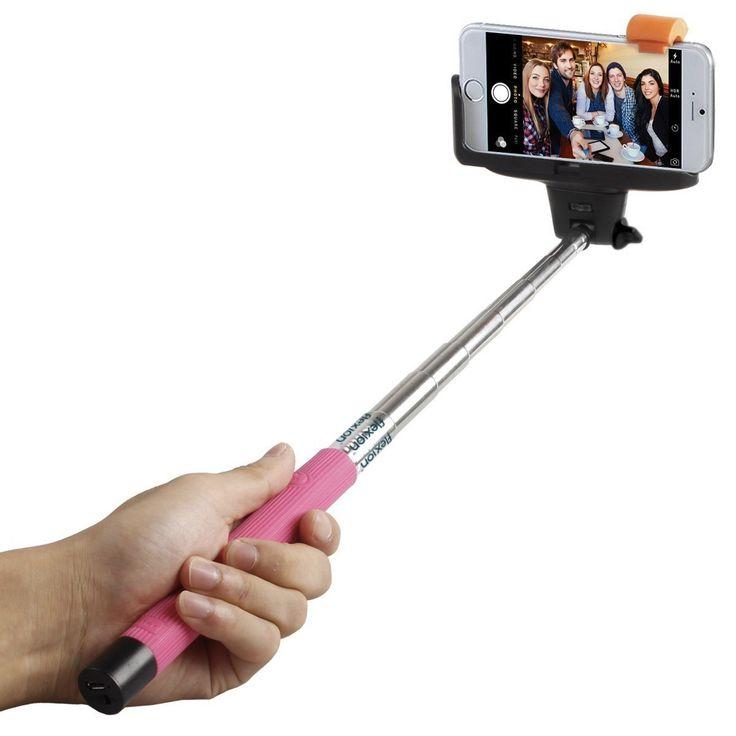 iPlanet Universal 3-foot Rechargeable Bluetooth-shutter Monopod Selfie Stick #EBTSELSTK
