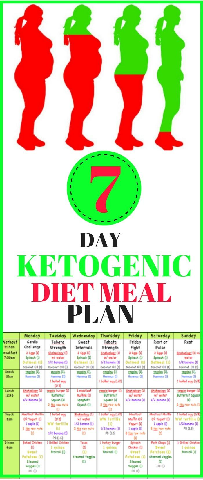 7 Day Ketogenic Diet Meal Plan