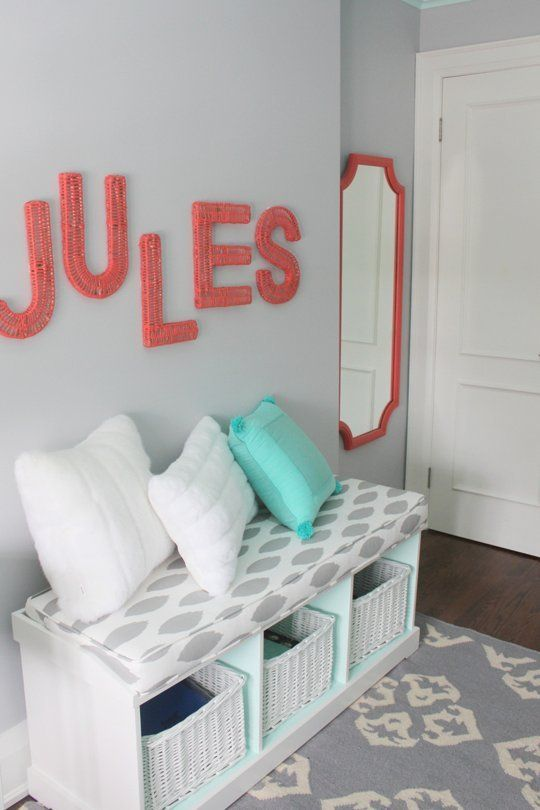 Jules' Fresh Mint & Coral Tween Room — Professional Project | Apartment Therapy