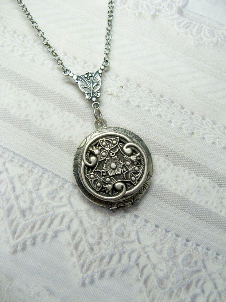 Silver Celtic Knot Locket Necklace