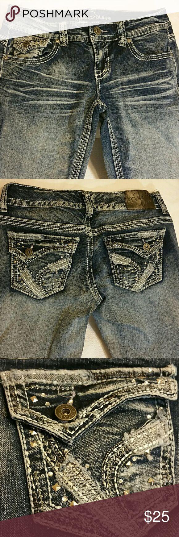 Ladies jeans, like new Low rise size 7/8 Ariya Jeans Straight Leg