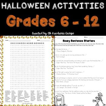 These fun and free Halloween writing activities are the perfect way to celebrate the holidays in your classroom in an educational way! A great teaching resource for the elementary and middle school classrooms!
