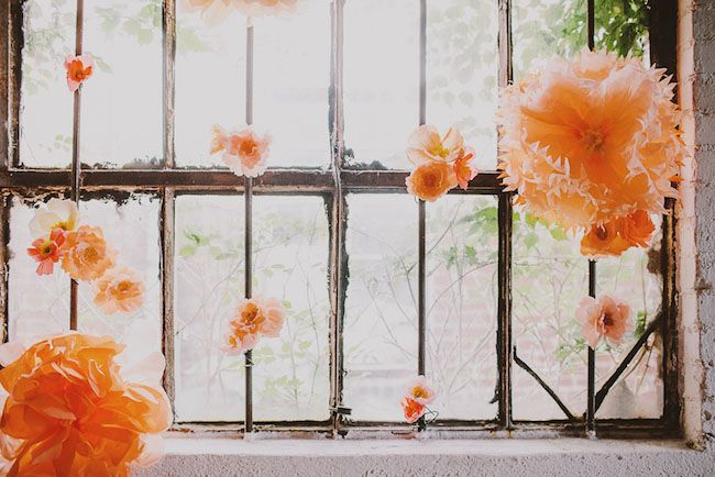 paper flowers are easy + stunning decor!