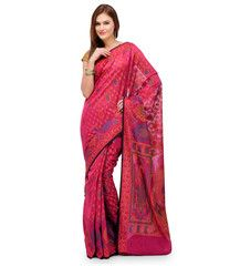 Magenta Banarasi Chanderi Cotton Saree | Fabroop USA | $44.99 |