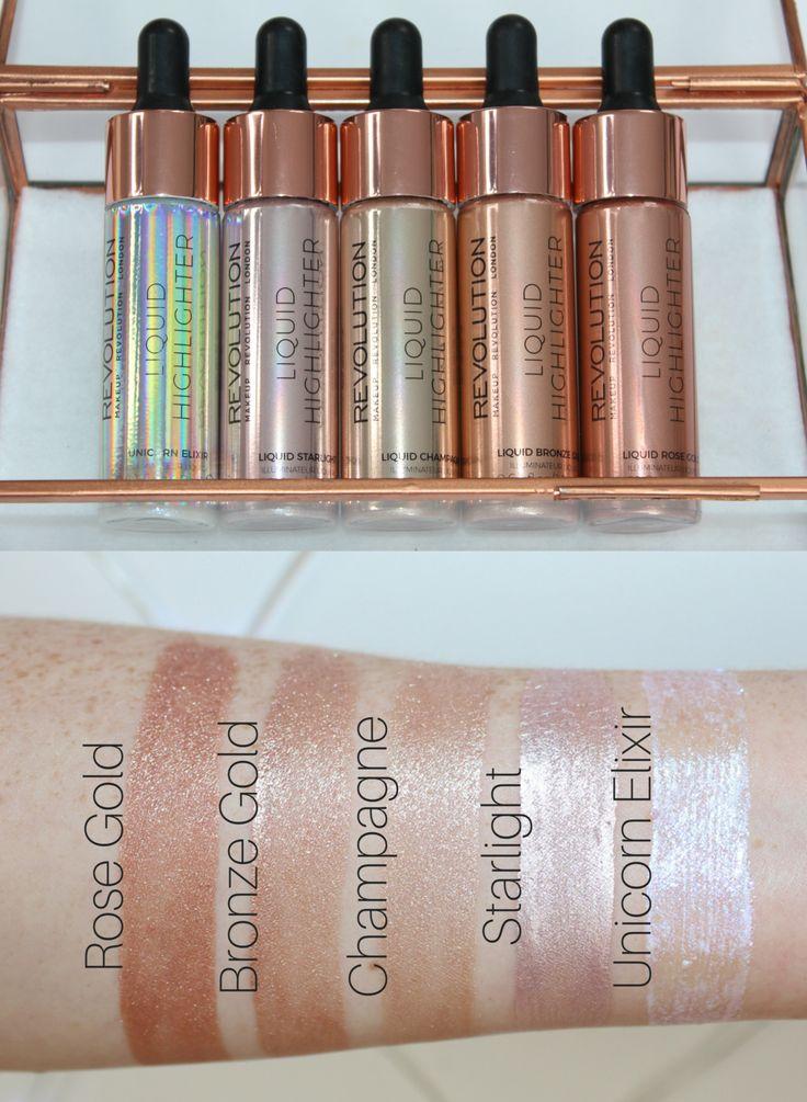 Makeup Revolution Liquid Highlighters - Cover FX Custom Enhancing Drops Dupes