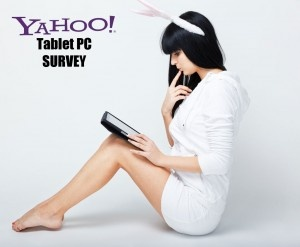 tabletpcpower / Yahoo survey on US household tablet use