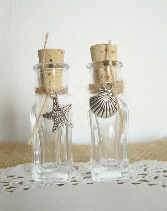 Beach theme cork bottle party favours