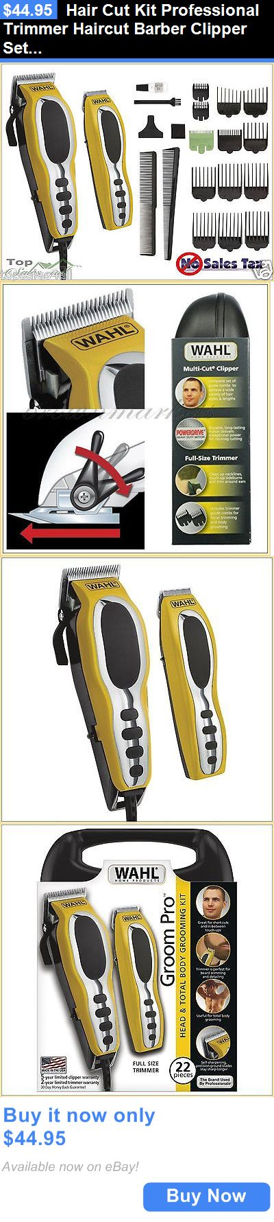 Clippers and Trimmers: Hair Cut Kit Professional Trimmer Haircut Barber Clipper Set Pro Cutting Machine BUY IT NOW ONLY: $44.95