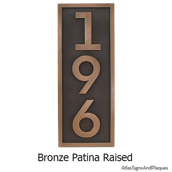 35 best Bronze House Numbers and Plaques images on Pinterest