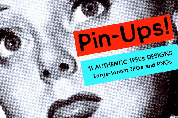 Authentic 1950s Pin-Ups High Res B&W by Piddix Archives on @creativemarket