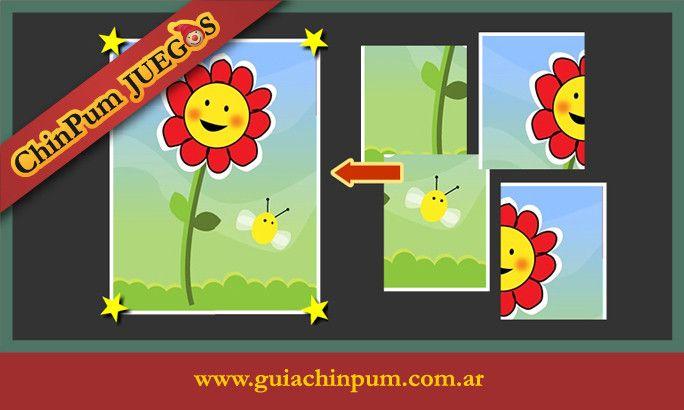 Juego de rompecabezas en línea para niños de 3 y 4 años. #JuegosEducativos #ChinPum #Peques