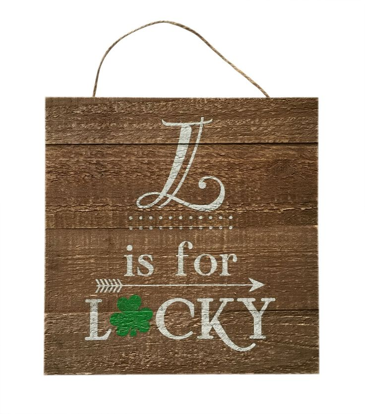 St. Patrick's Day Wooden Wall Decor-L Is For Lucky