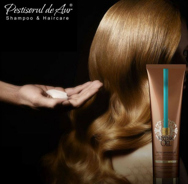 Ai nevoie de un produs multifuncţional pentru părul tău care să-i acopere toate nevoile? Încearcă L'Oreal Professionnel Mythic Oil Creme Universelle, recomandată tuturor tipurilor de păr, crema 3-in-1 poate fi folosită ca: 1. ca tratament, înainte de utilizarea şamponului; 2. ca balsam de păr; 3. asemenea unei creme pentru protecţia termică înainte de utilizarea aparatelor de styling. Comand-o aici…