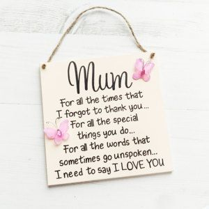 Mothers Day Gift Mum Plaque Birthday For