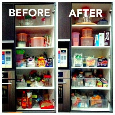 How To Organized Your Pantry. Using Ikea SAMLA Storage Containers #pantry