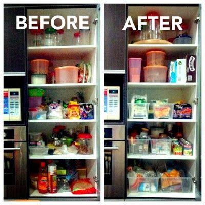 Using Ikea SAMLA Storage Containers #pantry