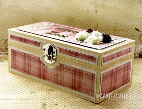 Pudełko oklejone papierami kolekcji Idylla