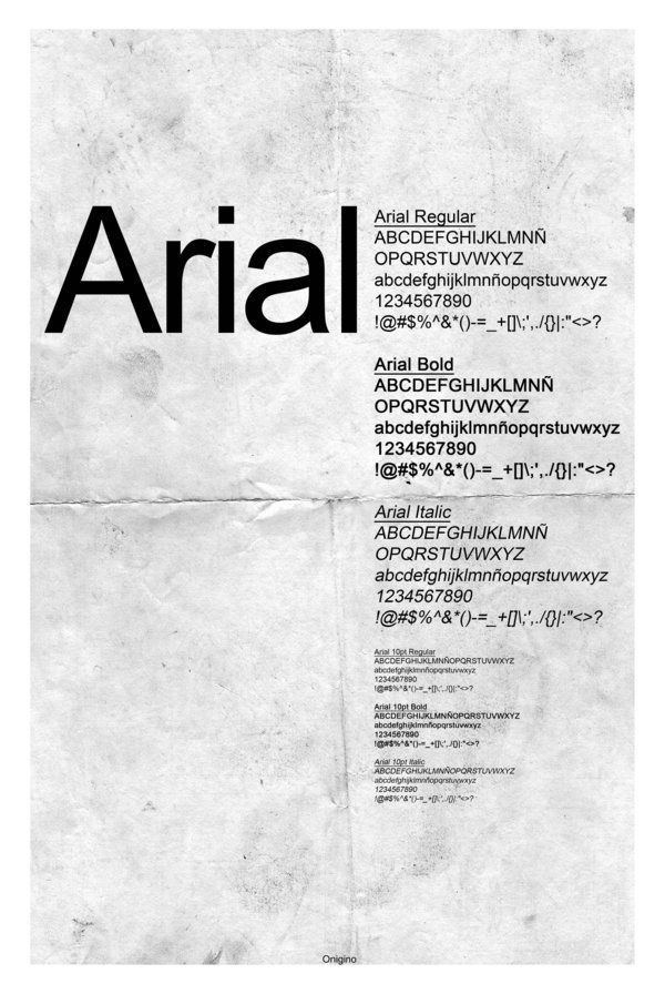 Arial Font Poster