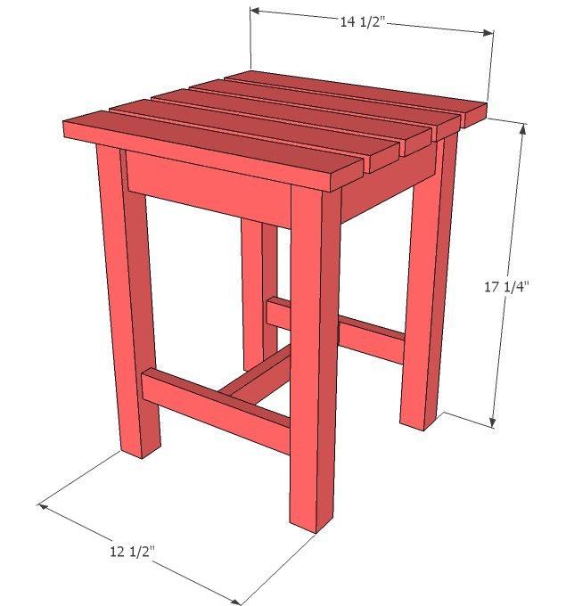 Ana white build a adirondack stool or end table free for Side table design