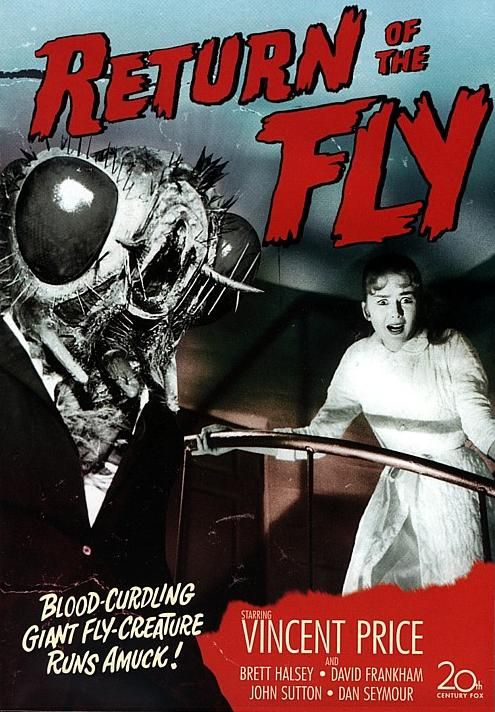 Return of the Fly (1958) USA 20th Century Fox Horror Vincent Price. 27/03/06