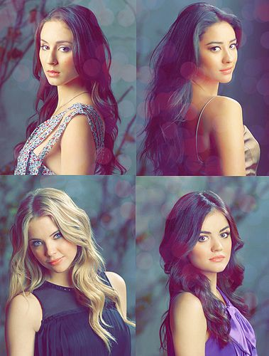 Pretty Little Liars... Top left: Troian Bellisario Top right: Shay Mitchell Bottom left: Ashley Benson Bottom right: Lucy Hale