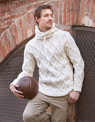 Designs for men by Katia #winter #fall 2014 / 2015 #totalwhite #knitting #katiayarns
