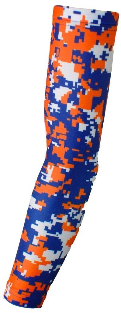 Sports Compression Arm Sleeve - Youth & Adult Sizes - Baseball Football Basketball by Bucwild Sports