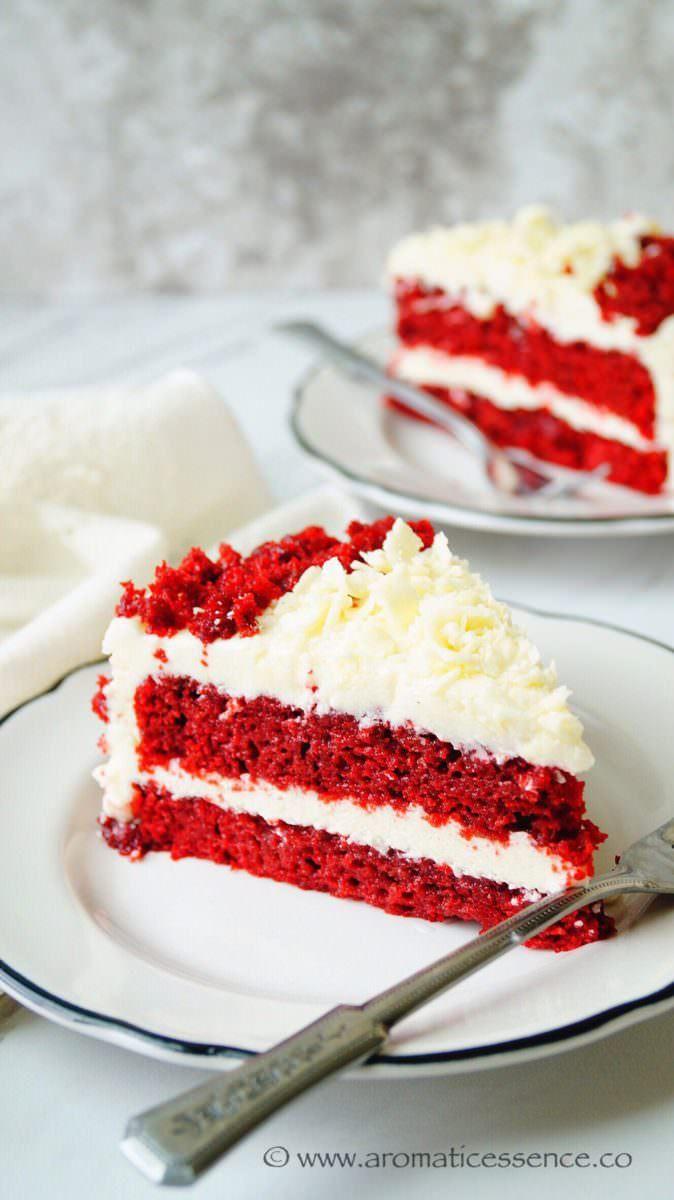 Eggless Red Velvet Cake With Cream Cheese Frosting Recipe Eggless Red Velvet Cake Red Velvet Cake Velvet Cake Recipes