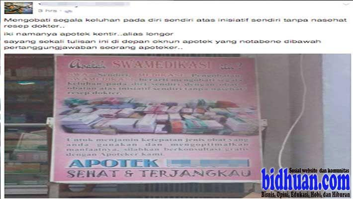 Poster Swamedikasi Di Apotek Ramai Dibicarakan Netizen Di Facebook Apoteker Poster Membaca