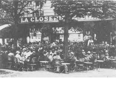 The Closerie des Lilas, one of Hemingway's favorite cafes and favorite places to write.