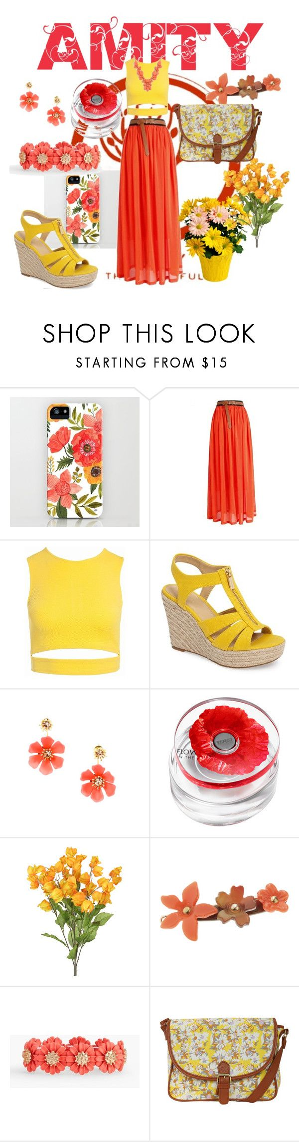 """""""AMITY (Divergent)"""" by antonella-iovino ❤ liked on Polyvore featuring Sans Souci, MICHAEL Michael Kors, Kenzo, L. Erickson, Talbots, Pilot and J.Crew"""