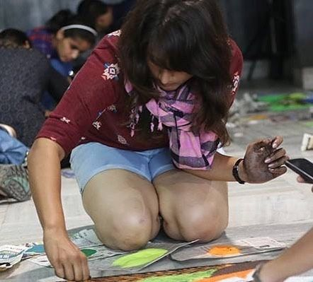 Rangoli Event at AIIMS Pulse. The event was sponsored by @campusfry as the Merchandise Partner.  #funny #toptags #joke @top.tags #epic #lol #crazy #fun #instafun #witty #tweegram #humor #cash #jokes #wacky #hilarious #photooftheday #laughing #joking #friends #instagood #laugh #haha #lmao #lmfao #funnypictures #instahappy #20likes #money #smile #amazing