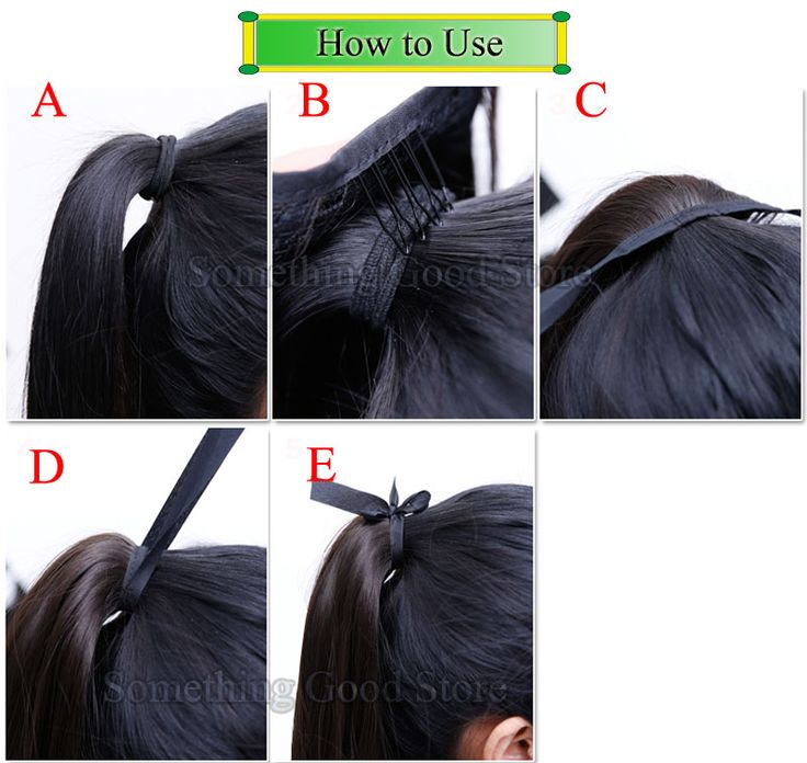 SNOILITE Long Synthetic Straight Ponytails 22 120g Clip In Ponytail Hair Extension Piece 14 Colors