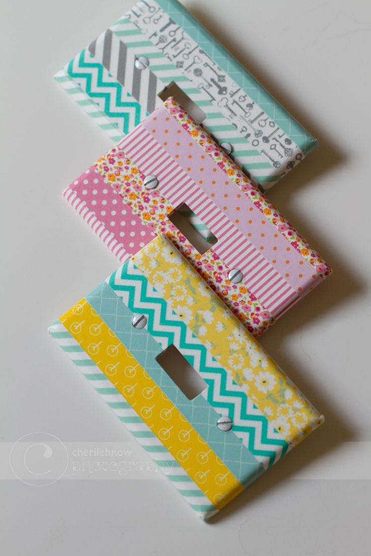 Washi Tape Light Switch Covers: