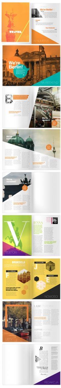 Travel Magazine on the Behance Network by JoshSullivan