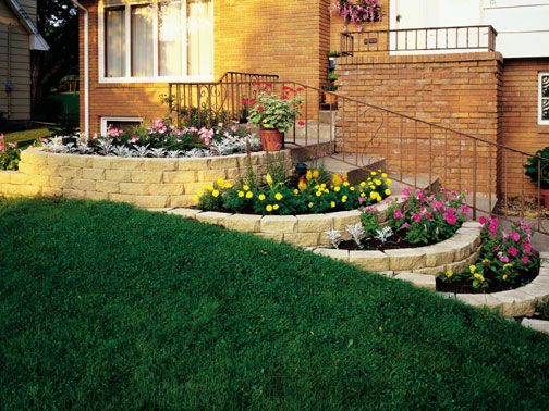 Small flower bed retaining wall dollhouse miniature for Flower bed wall designs