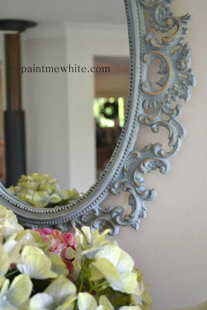Paint Me White: Louis Blue Mirror and Mercury Glass