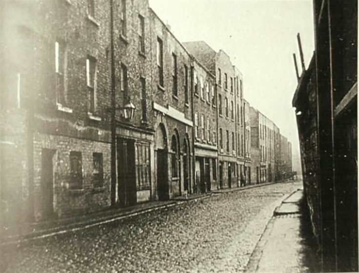 Cook Street, before widening, none of these buildings survive today.