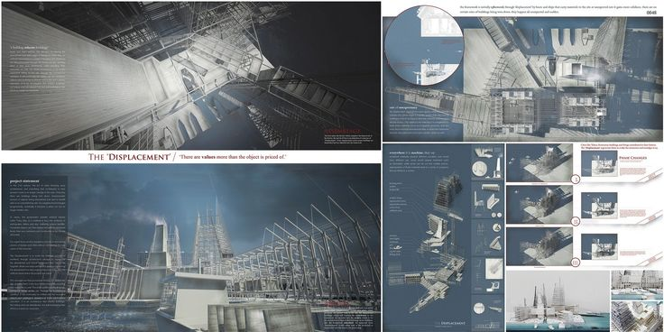 """eVolo 2016 Honorable Mention  Project by: Ko Anthony Chun Ming HONG KONG """"The Displacement Or The Revolt Of Abandoned Architecture"""""""